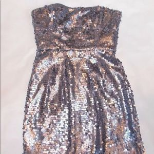 BCBGMAXAZRIA women's strapless Sequin Dress NEW 2